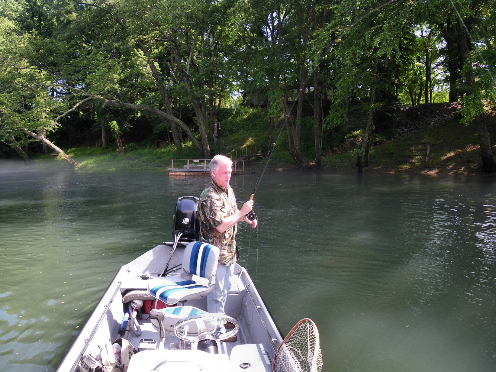 Little red fly fishing guide service for James river fishing report